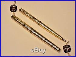 Vintage Extremely Rare 18k Solid Gold Parker Premier Fountain & Ball Pen Set New