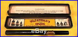 Vintage Fountain Pen Parker Lucky Curve Fountain Pen & Waterman Fountain Pen Box