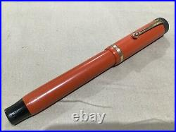 Vintage GEO S PARKER DUOFOLD LUCKY CURVE Fountain Pen ORANGE MADE IN USA 4-25-11
