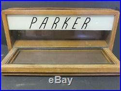 Vintage Illuminated Large Mid-Century Parker Countertop Display Case