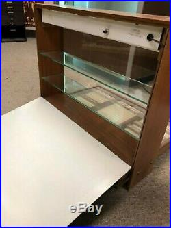 Vintage Illuminated Large Mid-Century Parker Countertop Display Case, With Drawers
