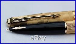 Vintage MINT PARKER 61 STRATUS Fountain Pen C1976 Rolled Gold