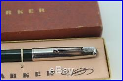 Vintage NOS Parker 51 Fountain Pen FOREST GREEN Aerometric NEW in Box
