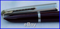 Vintage Nr Mint PARKER 51 Classic De Luxe Fountain Pen English Cased