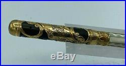 Vintage PARKER 15 Lucky Curve Fountain Pen Eyedropper MOP Overlay #3 nib