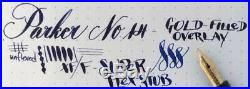 Vintage PARKER #16 Lucky Curve #3 Gold-Filled Filigree BHR Fountain Pen 14k Nib