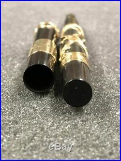 Vintage PARKER 33 Eyedropper Filigree Overlay Fountain Pen W 14K Solid Cap Band