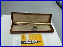 Vintage PARKER 51 Fountain pen SIGNET 14KGold Filled 14K Med nib Boxed