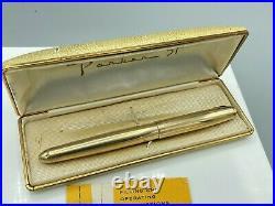 Vintage PARKER 51 Fountain pen SIGNET Gold Filled CANADA 14K Med nib Boxed