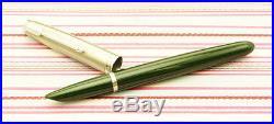 Vintage PARKER 51 Mark I Lustraloy Forest Green Custom Aerometric Fountain Pen