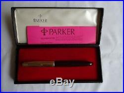 Vintage PARKER 51 Mk ll Aerometric Fountain Pen 14 ct Gold Nib Boxed 1950`s