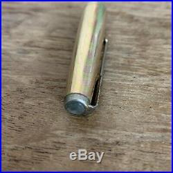 Vintage PARKER 61 Turquoise Fountain Pen Gold Filled Rainbow Cap 1/10 14K GF