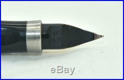 Vintage PARKER 75 Cisele Fountain Pen 925 Sterling Silver Gold Trim Flat Top