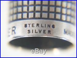 Vintage PARKER 75 Cisele Sterling Silver Fountain Ink PEN in Original Box