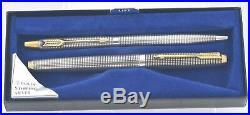 Vintage PARKER 75 Cisele Sterling Silver Fountain Pen And Ballpoint Pen Set