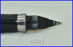 Vintage PARKER 75 Fountain Pen Flamme Pattern Gold PLated Cap & Barrel Broad Nib