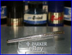 Vintage PARKER 75 Fountain Pen In Cisele Sterling Silver Pattern
