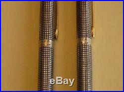 Vintage PARKER CLASSIC 75 Sterling Silver Ballpoint Pen & Pencil Set, 1972