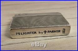 Vintage PARKER Cisele Classic 75 Sterling Silver Lighter, VERY RARE