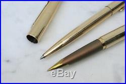 Vintage PARKER Falcon 50 Gold Plated Fountain Pen Ballpoint Set England