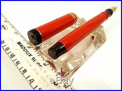 Vintage PARKER Fountain Pen 1928 Oversize DUOFOLD Senior BIG RED 14K nib ExC