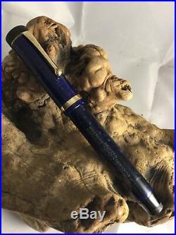 Vintage PARKER Senior Duofold Blue Lapis Lazuli Fountain Pen