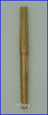 Vintage Parker 105 14K Rolled Gold Bark Pen 1979-82 + Gift Box Free EMS shipping