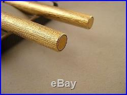 Vintage Parker 105 Gold Filled Bark Finish Fountain & Ballpoint Pen Boxed Rare