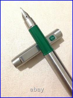 Vintage Parker 25 Flighter Mk1 Flat Top Green Trim Medium Fountain Pen-england
