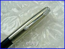 Vintage Parker 51 Cap Action Ballpoint Pen Blue Barrel