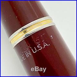 Vintage Parker 51 Double Jewel Fountain Pen Vacumatic Gf Cap 14k Nib Restored