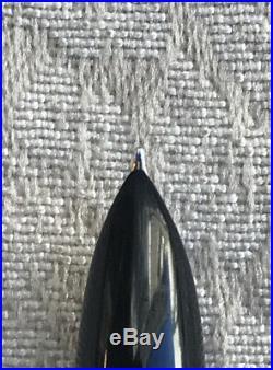 Vintage Parker 51 Fountain Pen, Black & Chrome, 14k Gold Nib, Fine