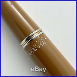 Vintage Parker 51 Fountain Pen Buckskin Beige Double Jewel 14k Nib