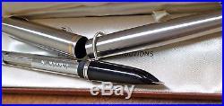 Vintage Parker 51 M Steel Pen In Original Case New Old Stock