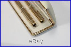 Vintage Parker 51 SIGNET Fountain Pen Pencil Set 14K GF NEAR MINT Working
