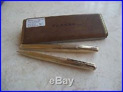 Vintage Parker 51 Signet Set Fountain Pen & Pencil Date Coded 1950
