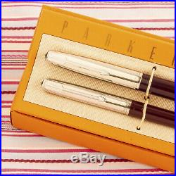 Vintage Parker 51 Special Burgundy Fountain Pen Pencil Box-set New Old Stock