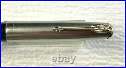 Vintage Parker 51 Vacumatic Black With Gold Trim Blue Arrow Fountain Pen