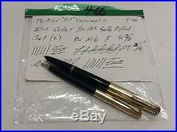 Vintage Parker 51 Vacumatic Blue Cedar 1/10 16k GF RU Nib Fountain Pen & Pencil
