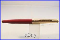 Vintage Parker 61 MKII Rage Red Medium Fountain Pen with Consort Cap