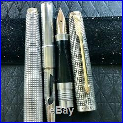 Vintage Parker 75 Cisele Fountain Pen 1st Yr (Metal Threads) 14K 65 F Nib