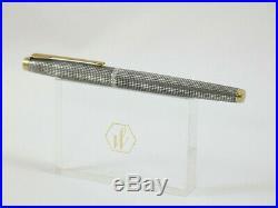 Vintage Parker 75 Sterling Silver Cicele Fountain Pen, GT, Box, M Nib Nr MINT