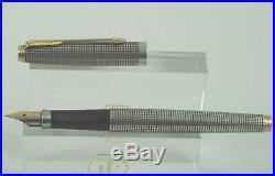 Vintage Parker 75 Sterling Silver Cicele Fountain Pen, GT, Box, XF Nib Nr Mint