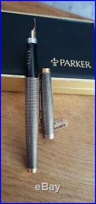 Vintage Parker 75 Sterling Silver Cisele Fountain Pen