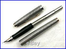 Vintage Parker 75 Sterling Silver Cisele Fountain Soft Tip Pencil Ballpoint Pens