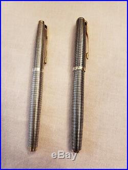 Vintage Parker 75 Sterling Silver Cisele, Sonnet Rollerball Pens READ DESCRIPTION