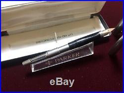 Vintage Parker 75 Sterling Silver Fountain Pen 14K NIB