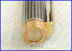 Vintage Parker 75 Sterling Silver Fountain Pen 14k Nib & Pencil Set Original Box