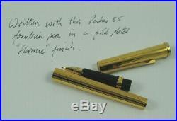 Vintage Parker 85 Florence Gold Fountain & Ballpoint Pen Set, Box 1979 Nr MINT