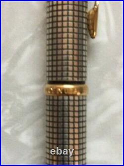 Vintage Parker Cisele Sterling Silver Ballpoint Gold Trim United Airlines Logo